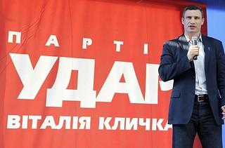 Hoffnungsträger der Opposition: Vitali Klitschko auf einer Wahlkampfveranstaltung 2012