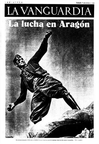 La Vanguardia, 7 de noviembre de 1936. «La lucha en Aragón » foto Agustí Centelles by Octavi Centelles