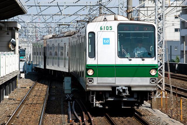 東京メトロ千代田線6000系6105F 廃車回送