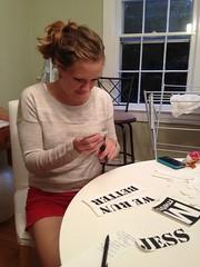 Emily cutting