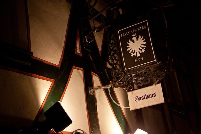 the excellent frankfurter haus pub restaurant sign idstein germany flickr photo sharing. Black Bedroom Furniture Sets. Home Design Ideas