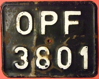 POLAND, OPOLE 1976-2000 ---MOTORCYCLE LICENSE PLATE, EMBOSSED METAL