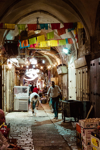 Jerusalem old market by Davide Restivo
