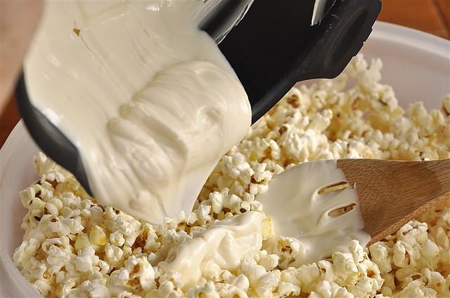 White CHocoalte Candy Corn Popcorn