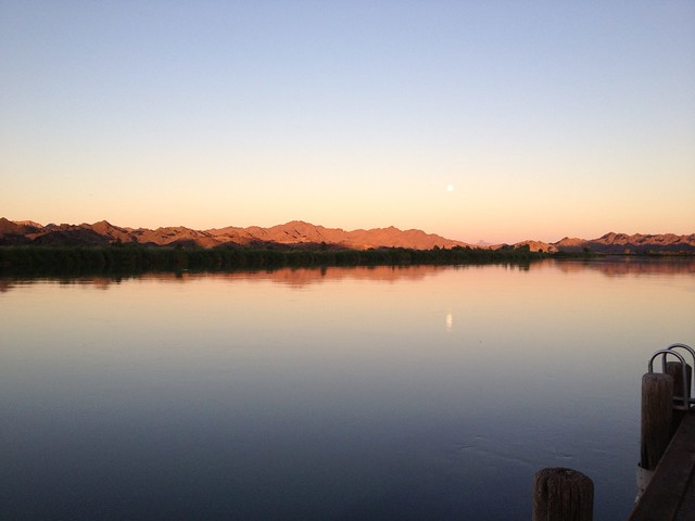 full moon rise over Colorado River