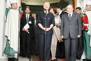 Secretary Clinton Addresses Reporters in Algiers