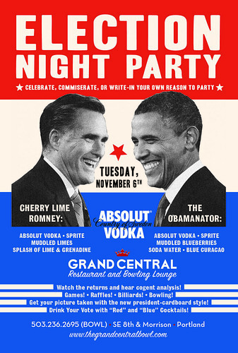 2012 Portland Election Night Party @ Grand Central Bowl