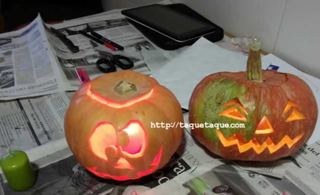 Calabazas para Halloween hechas por Ainoa, Eva y yo || Halloween Pumpkins made by Ainoa, Eva and me