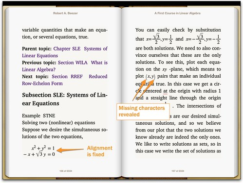 MathML in iBooks 3 on iOS6