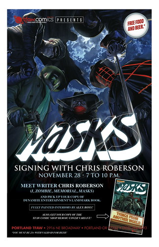Masks Release w/ Chris Roberson @ Things From Another World
