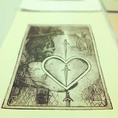 "Aaaaand...I think it""s done! #printmaking #tarot"
