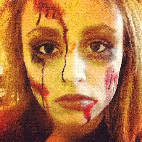 easy zombie face makeup