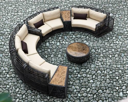 outdoor setional sofa circular design