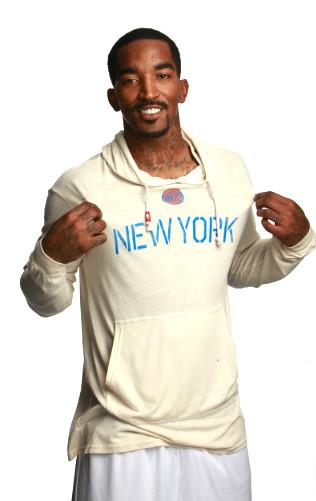 JR Smith in New York Knicks RYAN Sweatshirt By Sportiqe Apparel