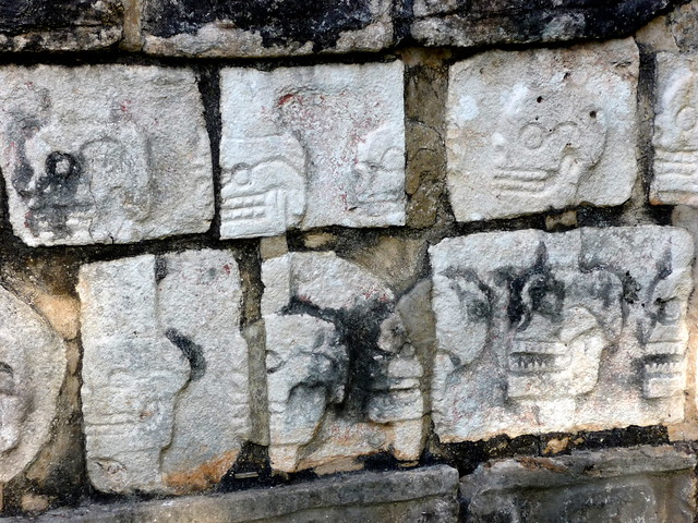 Mayan stone carvings chichen itza mexico sep flickr