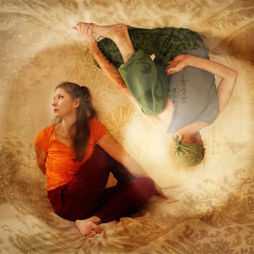 Inspiring Asanas. Yin-Yang Twist of Existence