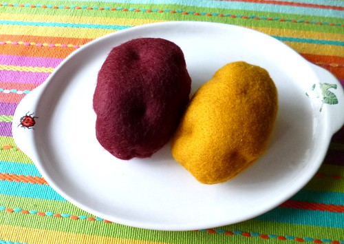 Felt play food - Potatoes