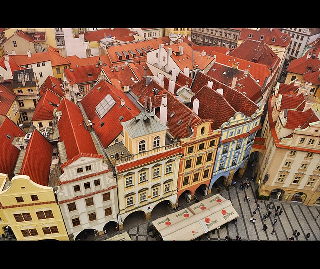 Prague , over the Red Rooftops ....