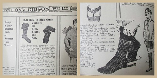 Men's & boys' hosiery 52/1/3 by Collingwood Historical Society