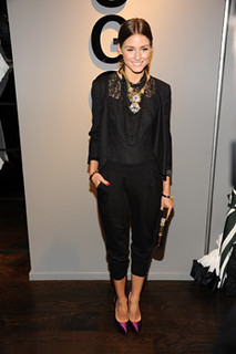 Olivia Palermo Black Crop Pants Celebrity Style Women's Fashion