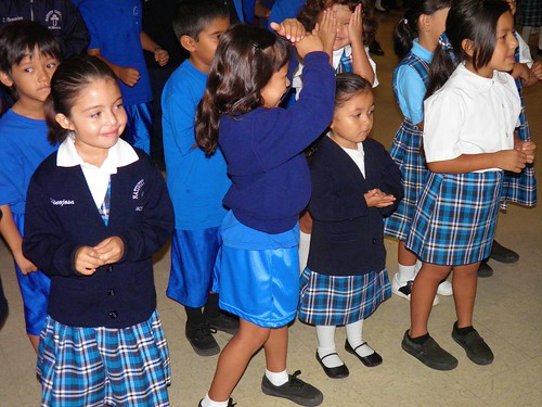 The younger students during the National Character Counts Week at the Nativity School