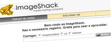 Imageshack - Um exemplo de um site para upload de imagens