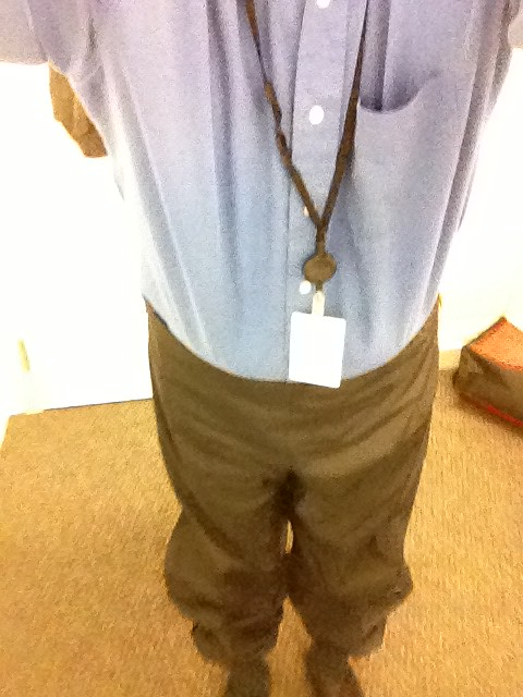 Bike commute fail. Forgot my slacks. Wore biking wind pants to office. Hammer time!