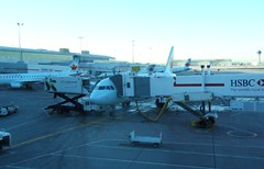 airline, aviation, airliner, airplane, airport, vehicle, jet bridge, infrastructure, tarmac,