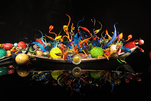 Boat of glass, reflection, Eye candy, Dale Chihuly's Glass and Garden, Seattle Center, Washington, USA by Wonderlane