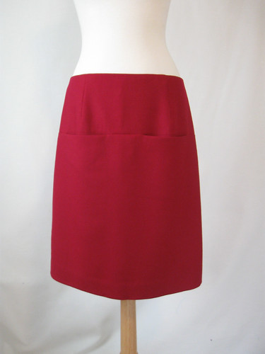 Fuschia skirt front