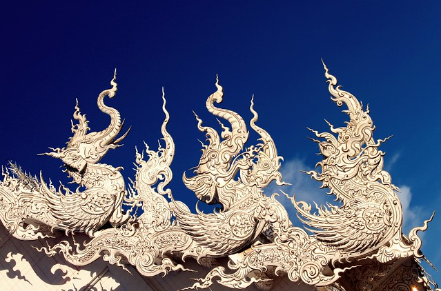 Wat Rong Khun - The roof
