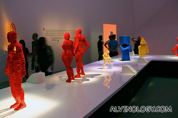 Gallery featuring many of Sawaya's human form sculptures