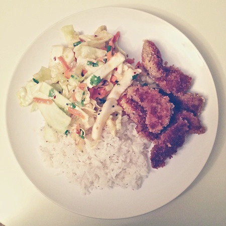 Crispy Pork with Asian Slaw