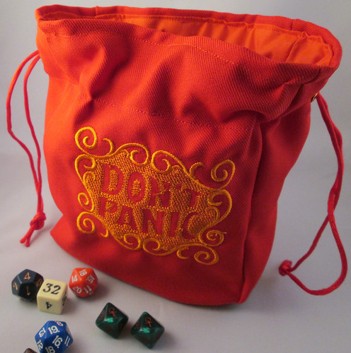 Don't Panic Hitchhikers Guide to the Galaxy Dice Bag Pouch