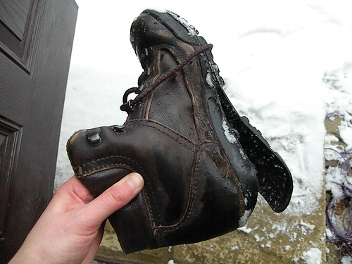 Hiking boot fail