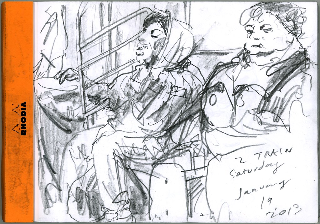 On the train. 38th World Wide Sketch Crawl