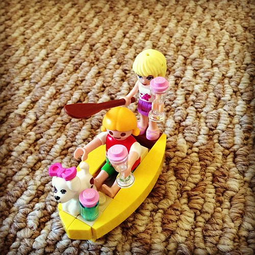 The smoothie canoe.  Something makes me think that boys play with Legos much differently.