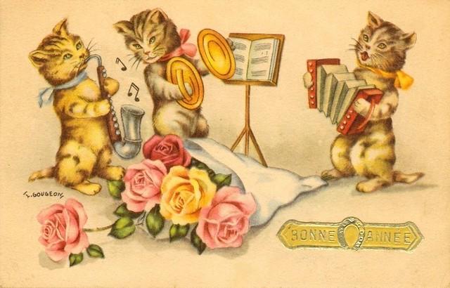 Bonne Année - vintage French New Year postcard