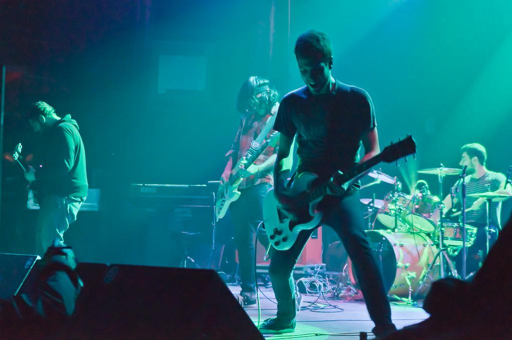 Toundra durante el concierto con Señores. En el Kafe Antzokia de Bilbao, el 12 de Enero de 2013.