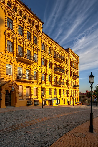 old city morning light summer sky urban house home weather architecture clouds sunrise vintage dawn town cityscape view capital scenic landmark center scene ukraine structure historic east kiev kyiv podil kyivcity