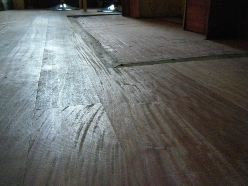 Floor boards close up