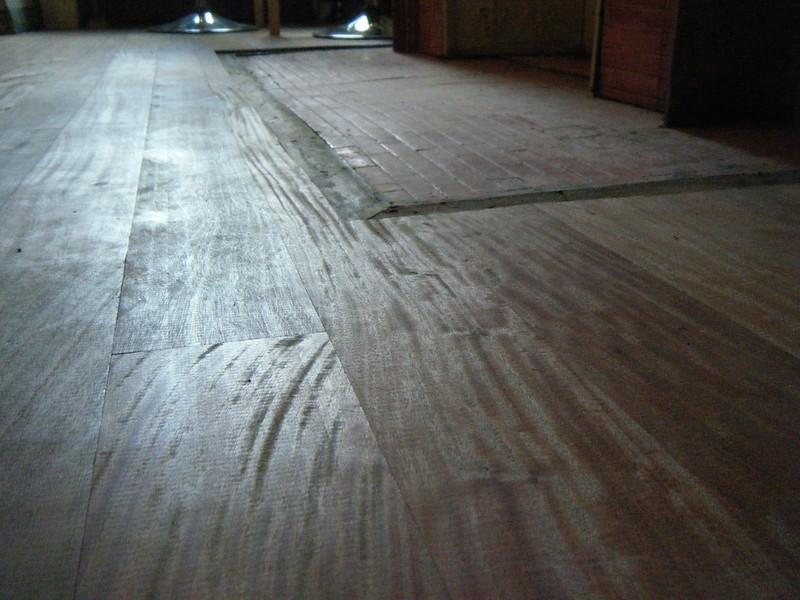 Floor boards close up