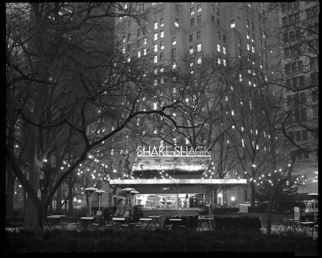 Shake Shack, NYC, 8x10 Kodak Tri-X 320