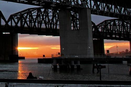 sunrise benicia beniciabridge carquinezstrait beniciawaterfront beniciarailroadbridge