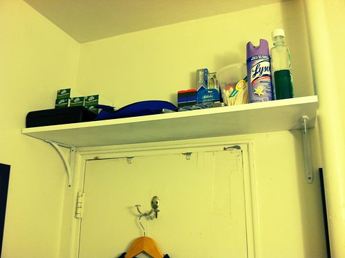 Shelf over the bathroom door
