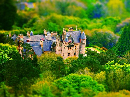 green castle architecture landscape miniature dof belfast depthoffield northernireland tiltshift belfastcastle