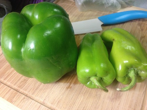Green Bell Pepper and Cubanelle Peppers