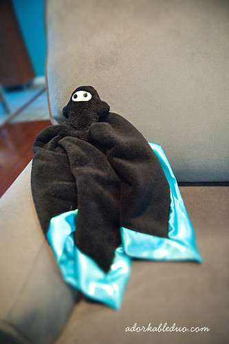 diy soft, fuzzy ninja blankie lovie