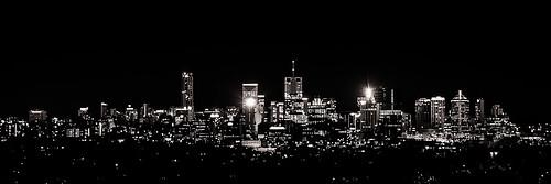 longexposure nightphotography silhouette skyline night lights view post matthew australia brisbane queensland outline capitalcity mtcootha matthewpost