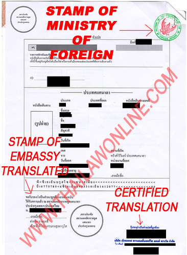 How to legalize a document thailawonline this an example of canadian passport translated and legalized they will put the thai translation in front of the certified true copy of your embassy yelopaper Images